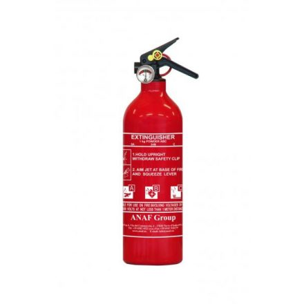 ANAF 1 kg ABC porral oltó, tűzoltásra alkalmas készülék