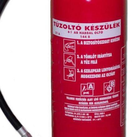 6 kg ABC habbal oltó tűzoltó készülék HKM6