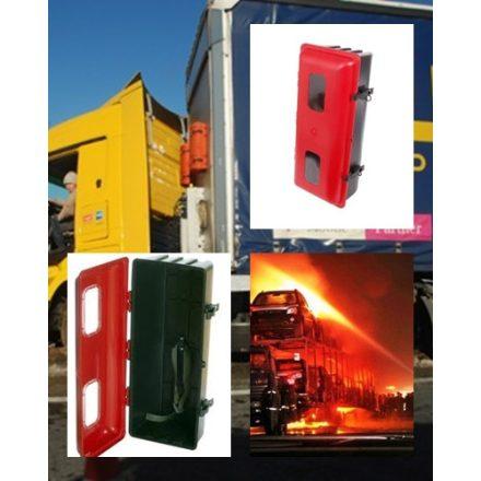 Porral oltó tűzoltó készülék teherautós tartó doboz