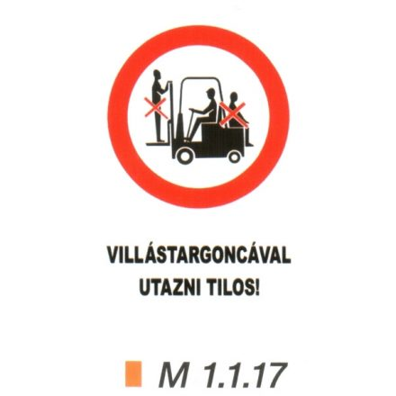 Villástargoncával utazni tilos! m 1.1.17