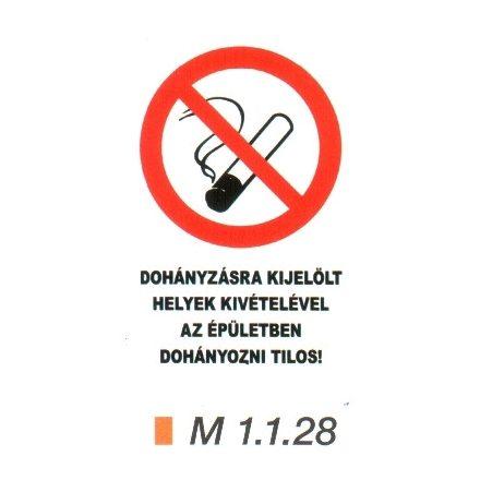 A dohányzásra kijelölt helyek kivételével az épületben dohányozni tilos!