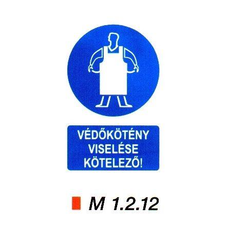 Védőkötény viselése kötelező m 1.2.12