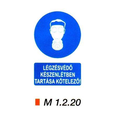 Légzésvédő készenlétben tartása kötelező! m 1.2.20