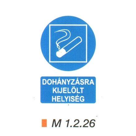 Dohányzásra kijelölt helyiség m 1.2.26