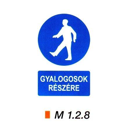 Gyalogosok részére m 1.2.8