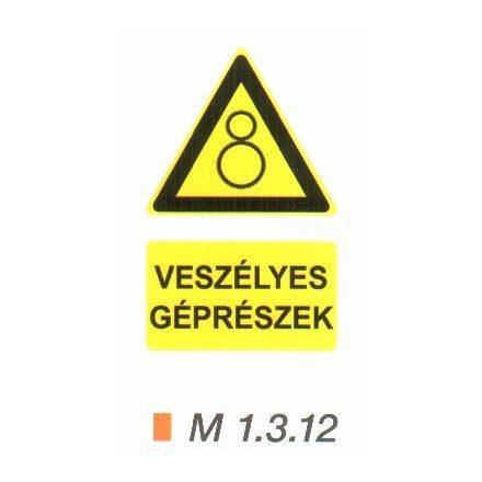 Vigyázz! Veszélyes gépszerek m 1.3.12
