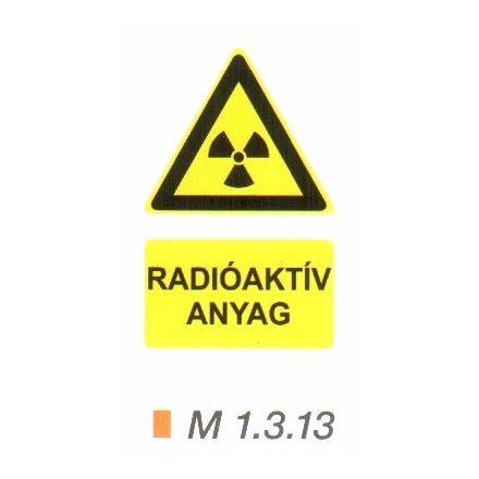 Radioaktív anyag m 1.3.13