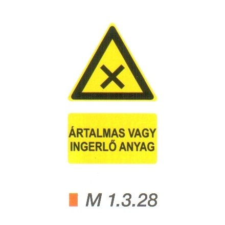 Ártalmas vagy ingerlő anyag m 1.3.28