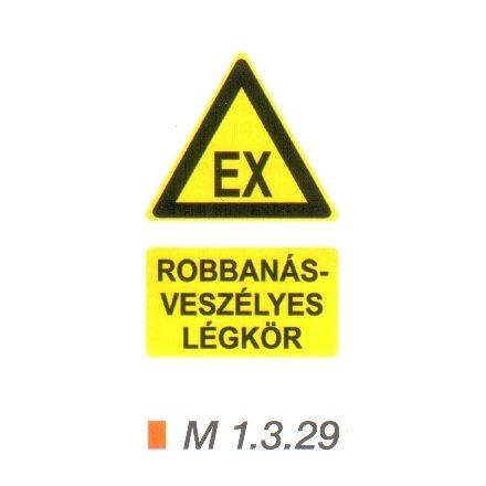 Robbanásveszélyes légkör m 1.3.29