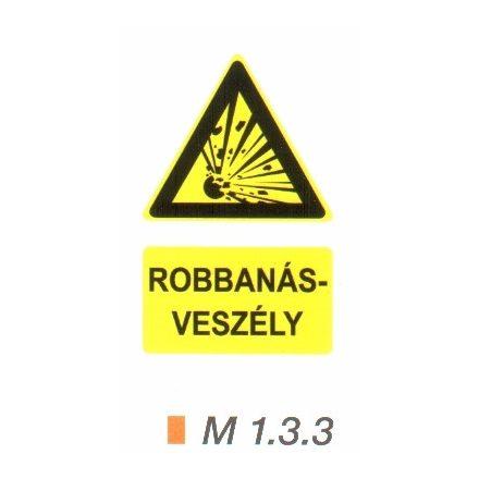 Robbanásveszélyes anyag m 1.3.3