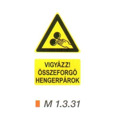 Vigyázz! Összeforgó hengerpárok m 1.3.31