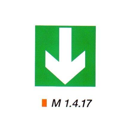 Iránymutató kiegészítő tábla m 1.4.17