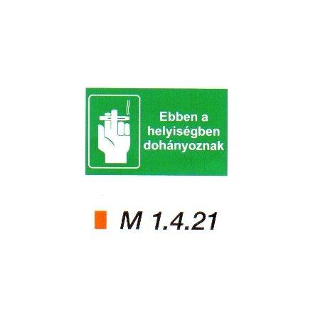 Ebben a helyiségben dohányoznak m 1.4.21