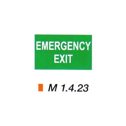 Emergency exit m 1.4.23