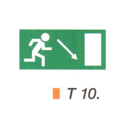 Menekülési út a lépcsőn lefelé, jobbra t 10