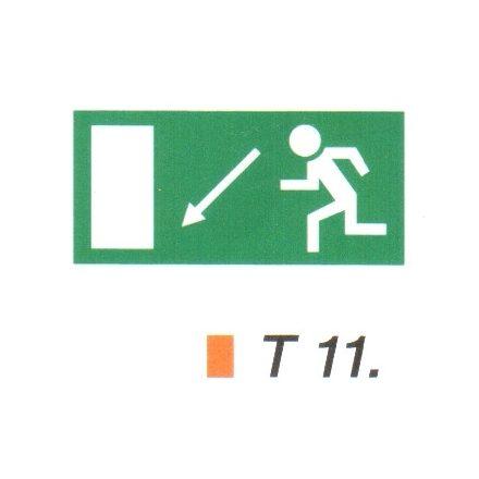 Menekülési út a lépcsőn lefelé, balra t 11