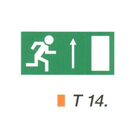Menekülési út fölfelé, ajtó jobbra t 14