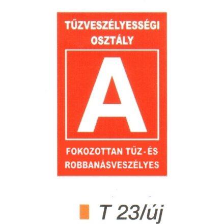 """Tüzveszélyességi osztály """"A"""" piktogram t 23/új"""