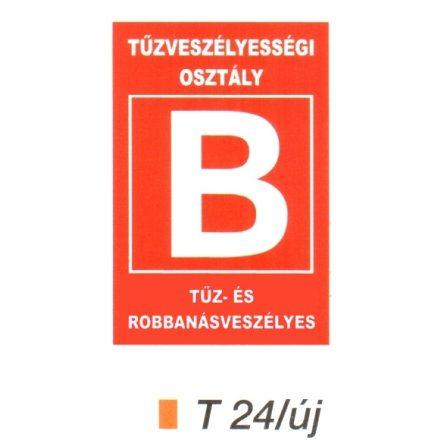 """Tüzveszélyességi osztály """"B"""" piktogram t 24/új"""