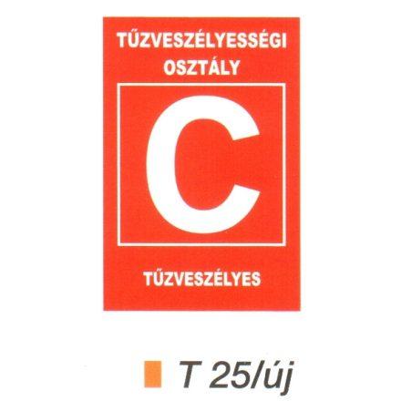 """Tüzveszélyességi osztály """"C"""" piktogram t 25/új"""