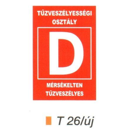 """Tüzveszélyességi osztály """"D"""" piktogram t 26/új"""
