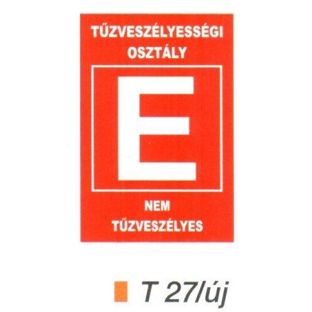"""Tüzveszélyességi osztály """"E"""" piktogram t 27/új"""