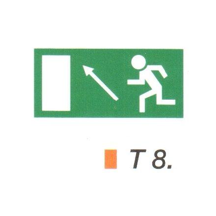 Menekülési út a lépcsőn fölfelé, balra t 8