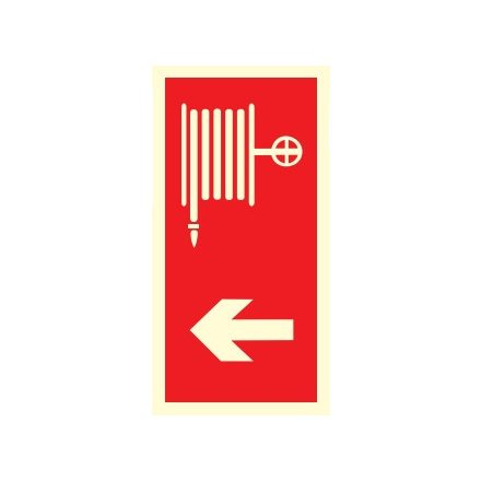 Tűzcsap és szerelvényi helyét jelölő, után világítós tűzvédelmi öntapadós tábla