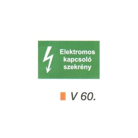 Elektromos kapcsoló szekrény v 60
