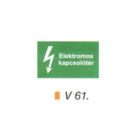 Elektromos kapcsolótér v 61